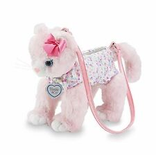 Girls Kitty Purse Plush Pink Handbag Kids Shoulder Bag Cute Soft Zipper Closure