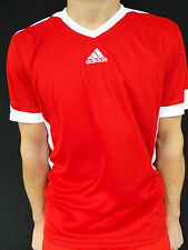 ADIDAS JERSEY T-SHIRT FOOTBALL RED WHITE CLIMA COOL V JOG FITNESS Size L