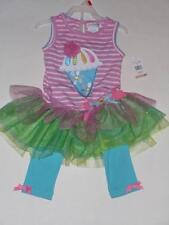 Emily Rose Boutique Ice Cream Cone Birthday Outfit Tutu Tulle Size 3T NEW