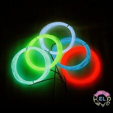 ULTRA EL Wire - 5 meters With Connector £6p/m Max Intensity Super Bright Polar 3