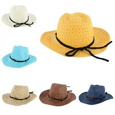 Summer Toddler Children Straw Hat Kids Boy/Girls Western Cowboy Jazz Sun Hat Cap