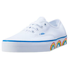 Vans Authentic Rainbow Print Sole Womens Trainers White Multicolour New Shoes