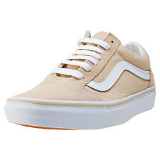 Vans Old Skool Womens Trainers Khaki White New Shoes