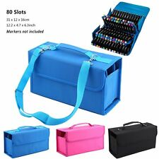 80 Slots Portable Marker Pen Bag Storage Case With Carrying Handle for TOUCHFIVE