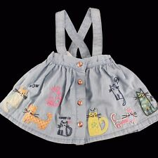 NWT NEXT Baby Girls Cats Skirt with Braces 3-6-9-12 m England
