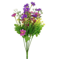 Bunch of Artificial Cineraria Flower Bouquet for Home / Office / Party (Purple)
