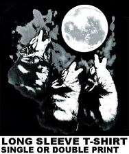 BEAUTIFUL HOWLING WILD WOLVES WOLF PACK LYCAN WEREWOLF FULL MOON  T-SHIRT WS51