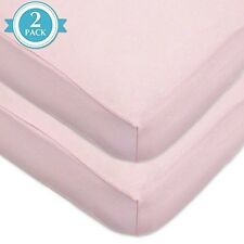 American Baby Company 100% Cotton Value Jersey Knit Crib Sheet, Pink 2 Count