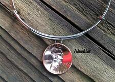 1945 LUCKY COPPER PENNY SILVER WIRE BANGLE CHARM BRACELET 72nd BIRTHDAY GIFT BOX