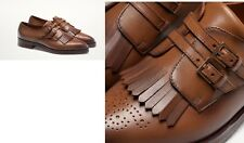 Woman Massimo dutti LEATHER MONK SHOES flat Bluchers Loafers & Moccasins brown