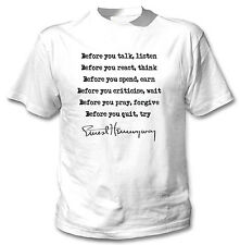 HEMINGWAY ERNEST QUOTE 3 - NEW COTTON WHITE TSHIRT
