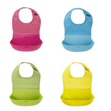 Lovely Silicone Lunch Bids Cute Baby Infants Waterproof Silicone Baby Bib Kids