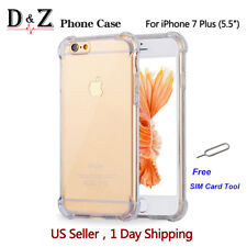 For iPhone 6/7/7 Plus Case Crystal Clear Cover Shock proof Rubber Protective TPU