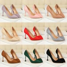 Work OL Chic Solid High Heel Suede Stiletto Pointed Toe Pump Simple Womens Shoes