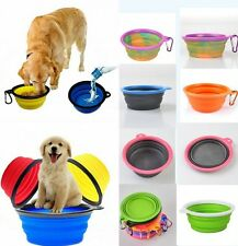 Pet Dog Cat Collapsible Silicone Bowl Puppy Travel Food Water Drink Dish Feeder