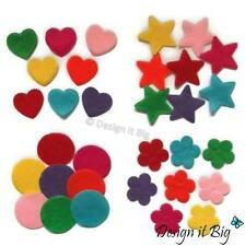 Felt Shapes Stars Hearts Circles Flowers Childrens Craft Mixed Assorted Shapes