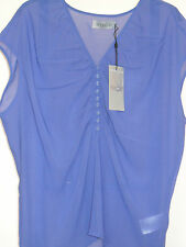 Blue Sheer Blouse/Top by Soaked In Luxury Sizes L, XL  (14,16)