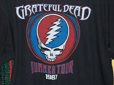GRATEFUL DEAD SUMMER TOUR 87 T-SHIRT NEW OFFICIALLY LICENSED LIQUID BLUE LARGE