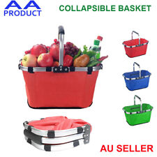 Folding Collapsible Basket Canvas Tote Bag for Picnic Travel Shopping Camping