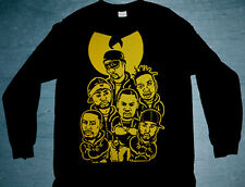 New Long Sleeve Wu Tang Clan Yellow shirt cajmear bmp jordan 1 wear M L XL 2XL
