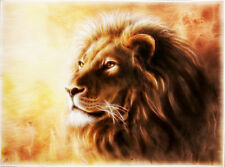Home Art wall decoration Lion Animal oil painting picture Printed on Canvas Nys4