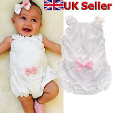 Newborn Baby Girl Flower Clothes Cotton Romper Jumpsuit Bodysuit Sunsuit Outfits