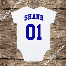 Personalized Baseball Softball Jersey Onesie - unisex baby clothes - Baby Shower