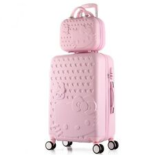 Hello Kitty Rolling 2 Suitcase Sets Luggage Trolley Bag Women Girls Valiz travel
