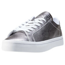 adidas Courtvantage W Metallic Womens Trainers Silver New Shoes