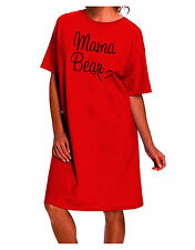 Mama Bear with Heart - Mom Design Adult Wear Around Night Shirt and Dress