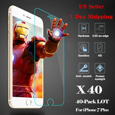 D&Z 40x Wholesale Tempered Glass HD Screen Protector Film for iPhone 7 Plus