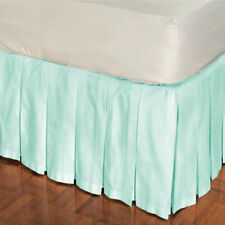 """15"""" Drop Multi Pleat Bed Skirt 800 TC Egyptian Cotton Twin/Full/Queen/King"""