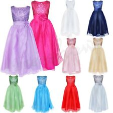 Flower Girls Princess Tulle Dress Sequined Wedding Party Pageant Gown Dresses