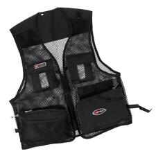 Breathable Quick-Dry Nylon Mesh Vest Summer Fly Fishing Hiking Zipper Waistcoat