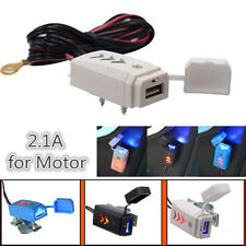 Hot Universal Motorcycle LED USB Charger Handlebar Power Supply For Phone GPS