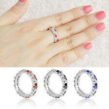 1Pc Cute Pet Dog Claw Crystal Vintage Ring Fashion Jewelry For Women Girls