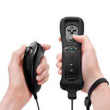 Black Official Nintendo Wii Remote Controller+ Built-in Motion Plus+ Nunchuk New