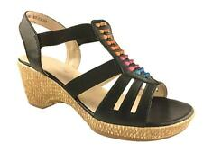 LADIES FAUX LEATHER CUSHION WALK EEE WIDE FIT STRAPPY SUMMER SANDALS SIZE 3-9