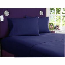 """1000 Thread Count Navy Blue-Bedding Sheets Collection """"100%Egyptian Cotton"""""""