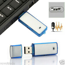 150 hours Mini 8GB USB Disk Pen Flash Drive Digital Voice Recorder dictaphone