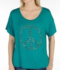 Buckle Daytrip pieced top - NWT - sizes small & medium - peace sign bling