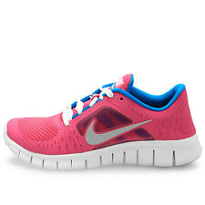 NIKE Free Run 3 GS FUSION PINK Silver Blue Shoes NIB Girls Youth Size 4 / EUR 36