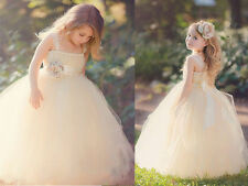Formal Baby Princess Bridesmaid Flower Girl Dresses Wedding Party Birthday Gowns