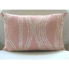 Pink Mother Of Pearls 30x40 cm Silk Lumbar Cushion Cover - Angelic Soft