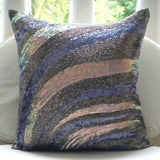 Wild Night - Grey 35x35 cm Silk Cushions Covers For Couch