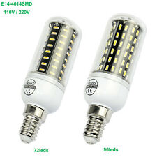 Bright Led Lamp E14 4014SMD 72LEDs 96LEDs Corn Bulb 110V/220V White/ Warm White