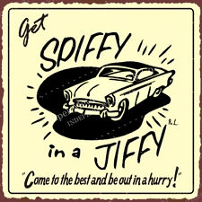 (VMA-G-1046) Get Spiffy In A Jiffy Vintage Metal Art Automotive Retro Tin Sign