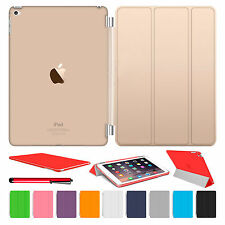 Magnetic Slim Leather Smart Cover Hard Back Case For Apple iPad Air2 3 4 mini1 2