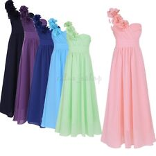 Princess Chiffon Dress Flower Girl Pageant Wedding Party Bridesmaid Formal Gown