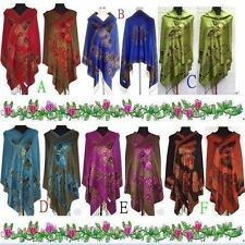Fashion-New-Chinese-Lady-Double-Side-Butterfly-Pashmina-Scarf-Wrap-Shawl-Cape..